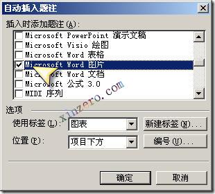 word_自动题注