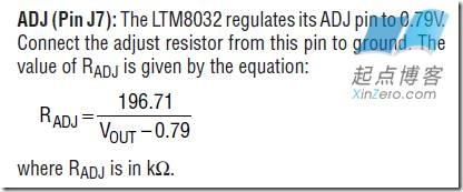 LTM8032电压调节电阻计算方法