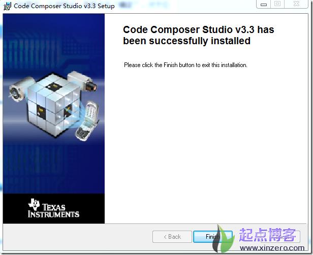 ccs3.3安装完毕提示