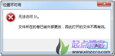 u盘卷被外部更改,文件不再有效