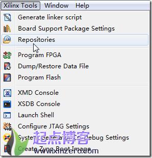 选择xilinx Repositories菜单