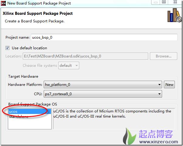 在vivado sdk中安装μC/OS-III BSP指南