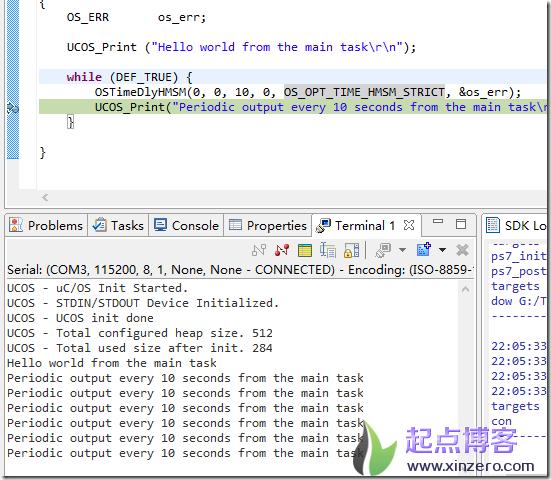 "Vivado SDK下基于µC/OS ""Hello World""工程"