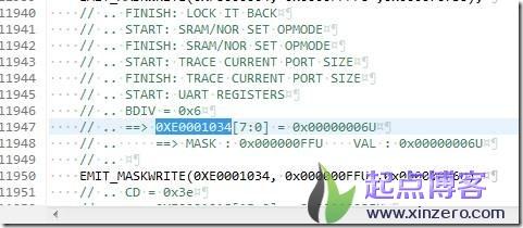 ps_init.c中BDIV设置值