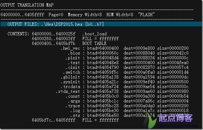 TI C6000 DSP boot加载hex文件
